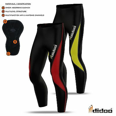 New Mens Winter Long Cycling Pant Thermal Padded Bike Legging Tight Fit