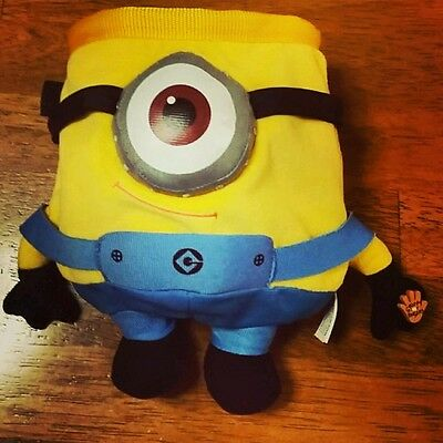 Despicable Me Minion Novelty Rock Climbing Chalk Bag made from plush toy