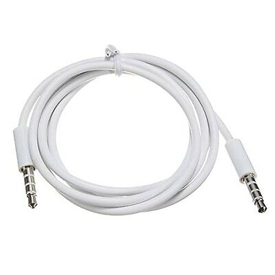Cable Cordon Audio Jack 3.5mm 4 PINS Male/Male Stereo pour Smartphones Tablettes