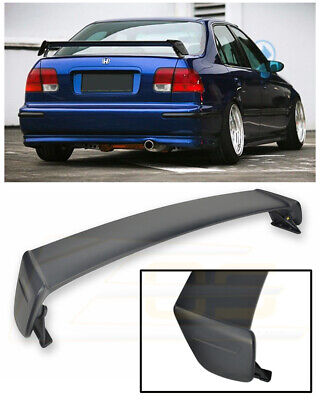 For 96-00 Honda Civic EK Sedan ABS Plastic MUGEN Style Rear Trunk Wing Spoiler