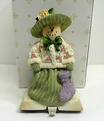 Plum Pudding Stocking Holder Heather Hykes Fancy Snow Lady Artisan Flair