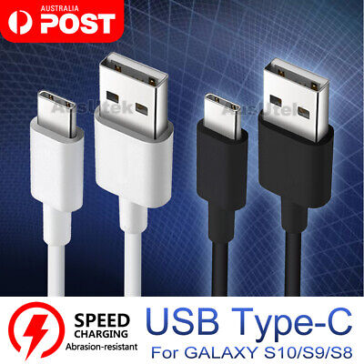 2x 3M LONG USB-C Type C Data Cable Fast Charging For Samsung S10 Plus S10e S9