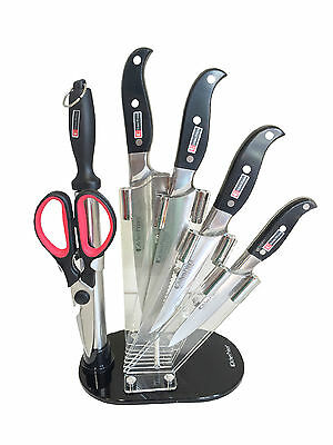 NEW 7 Piece Kitchen Prince Knife Set Stainless Steel Professional 7307