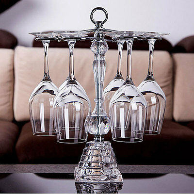 Wine Glass Crystal Rack Home Kitchen Dining Bar Tool Shelf Holder Hanger 195U