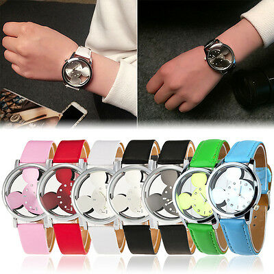 New Mickey Mouse Quartz Fashion Child Boy Men Wrist Watch Wristwatch 6 colors