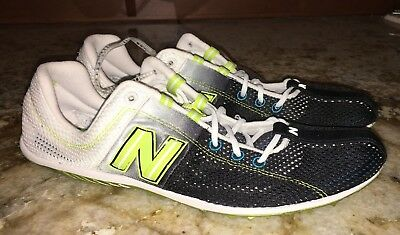 NEW BALANCE 1006 LD Long Distance Black White Lime Track Spikes Shoes New Mens 9