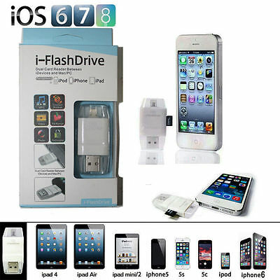 FlashDrive USB Micro SD TF Card Reader Flash Drive For iPhone 7 6 6S Plus 5S SE
