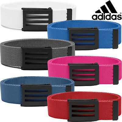 Adidas 2017 3-Stripes Buckle Performance Webbing Canvas Golf Belt - One Size