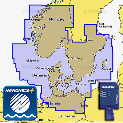 NAVIONICS Plus 45XG Carte Marine SD/MSD Skagerrak and Kattegat