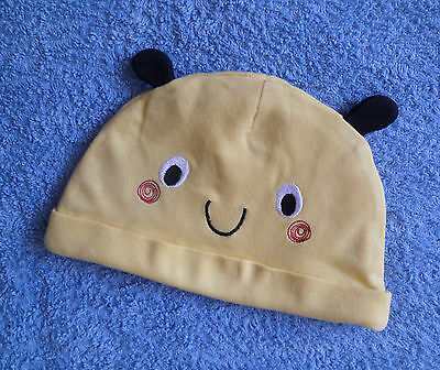 Baby clothes BOY 9-12m cute yellow face hat ears cotton COMBINE POST SEE SHOP!