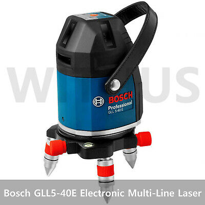 Bosch GLL5-40E Professional 5 Line Electronic Multi-Line Laser With LR5 Receiver