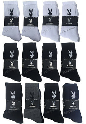 3/6/12 Pairs Men's Playboy Sport Socks Cotton Work Socks Shoe Size  6-11