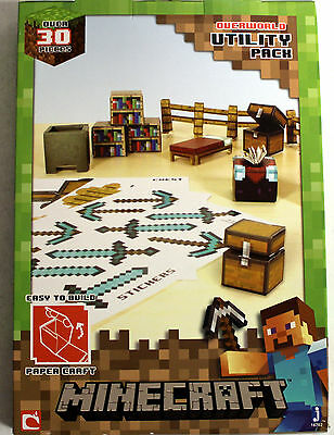 Minecraft Papercraft Utility Pack, Over 30 Pieces - Damaged Packaging     *NEW*