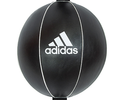 Adidas Leather Double End Speed Ball Floor To Ceiling Punch Bag Boxing Black Gym