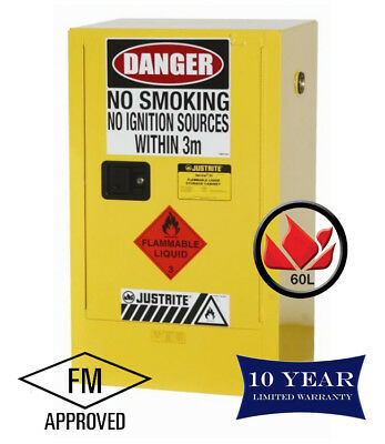 60L Dangerous Goods Storage Flammable Liquid Safety Cabinet 10 Yr Wty FireResis