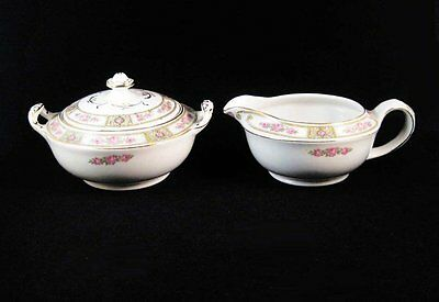 Vintage Alfred Meakin Clifton Creamer and Covered Sugar Bowl Set