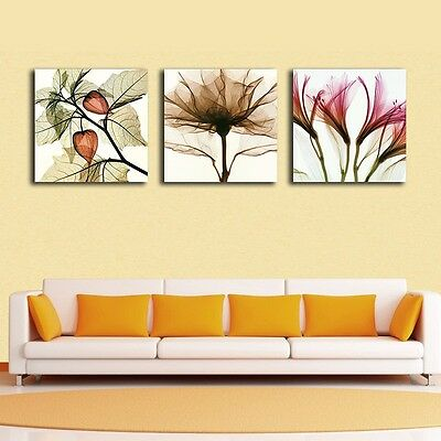 Large Flowers Stretched Canvas Prints Framed Giclee Wall Art Home Decor Painting