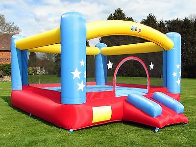 BeBop 14.5ft Star Palace Large Kids Inflatable Bouncy Castle With Slide