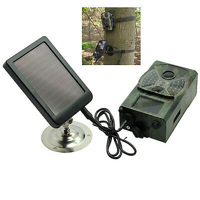 Hunting Trail Game Camera 1500mAh Rechargeable Solar Panel Battery Charger Pack