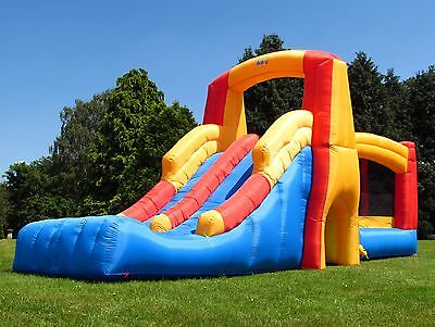 BeBop Bounce and Double Slide Large Inflatable 19ft Bouncy Castle For Kids