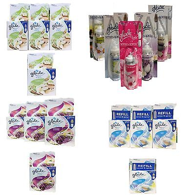 4 X Glade Sense And Spray Refills Home Office Scent Air Freshener Frsh