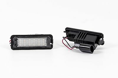 Seidos LED License Plate Light with E4 Certification mark, for VW Golf 4 IV