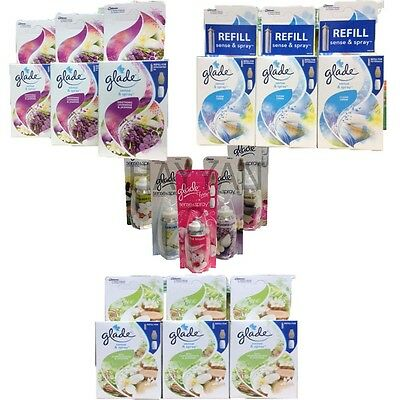 3 X Glade Sense And Spray Refills Home Office Scent Air Freshener Frsh