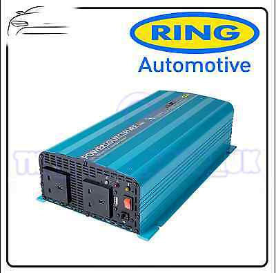 Ring 600 Watt 12v Pure Sine Inverter Car Motorhome Caravan RINVP600