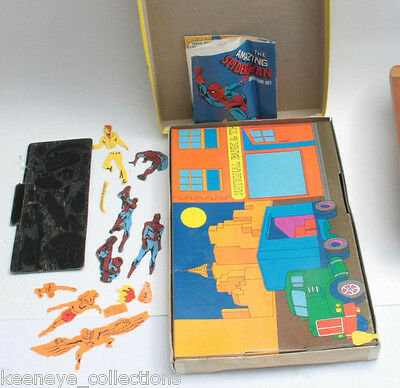 Colorforms Amazing Spiderman Adventure Set Bank Robbery Box Set - Vintage C80