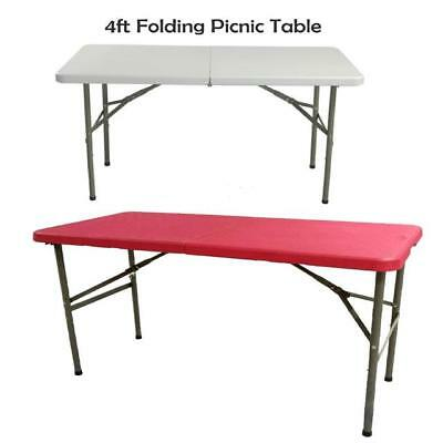 4Ft Folding Table Heavy Duty Camping Garden Market Stall Catering Party