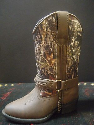 Cowboy Boots Laredo Children's Brown Camo Harness item # LC2218 on CLEARANCE