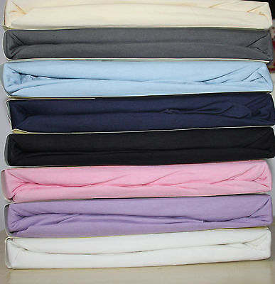 Family Bedding Premium Quality 100% Cotton Jersey Fitted Sheet,Single Bed