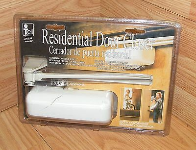 Tell (10173) Residential Door Closer With Adjustable Closing Speed **READ**