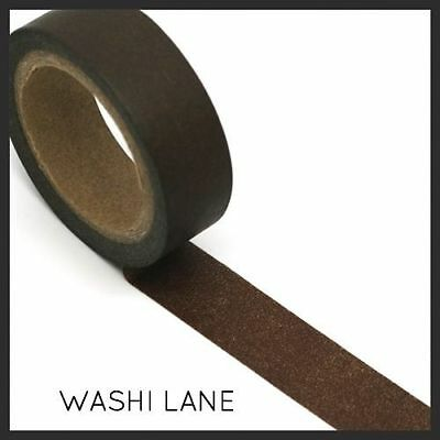 Washi Tape -  Solid Brown 15mm x 10m Chocolate Brown Masking tape