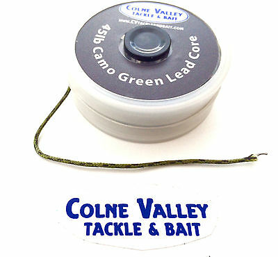 Leadcore leaders 8m 45lb anti spill spools silt/green/brown/gravel/ cv tackle