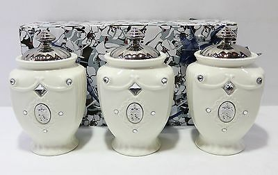 NEW Set of 3 Ceramic Tea/Coffee/Sugar Canisters 20x12x10cm 17413