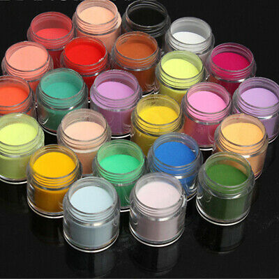 12/18/24 pcs Mix Colors Nail Art 3D Acrylic Dust Powder Decoration Tips Jumbo