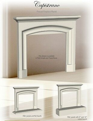 Capistrano Cast Stone Fireplace Mantel (mantle) Surround