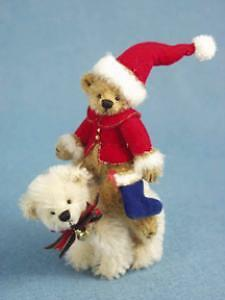 "Deb Canham's ""north Pole Santa"" Limited Edition 2004-Mohair Polar Bear/santa"