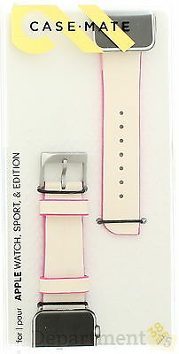 Case Mate Apple Watch, Sport & Edition 38mm Band ( Pink/White )