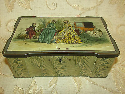 Large Vintage Collectable Clarnico Sweets Tin With Lock