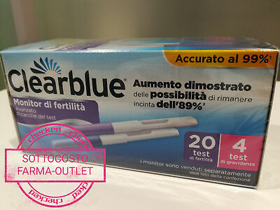 Clearblue Advanced 20+4 Stick Test Di Fertilita' Primo Prezzo Stock Sottocosto