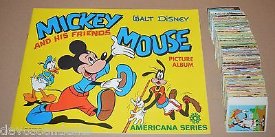 1970s Mickey and His Friends : Empty Album + 335/360 Stickers Americana Series