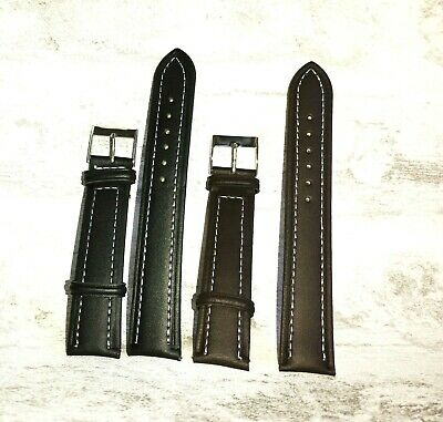 XL stitched padded and genuine leather watch straps Free tool and pins #2