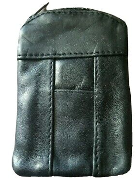 Eclipse Leather Black 100's Cigarette Zip Case Ultra Soft