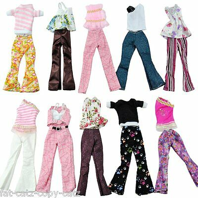 BARBIE DOLL SIZED DRESS 5x TROUSER CLOTHING OUTFITS 1x COAT & 10x SHOES UKSELLER