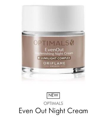 New Oriflame Optimals Even Out Night Cream (reduce dark spots), 50ml *Sale*
