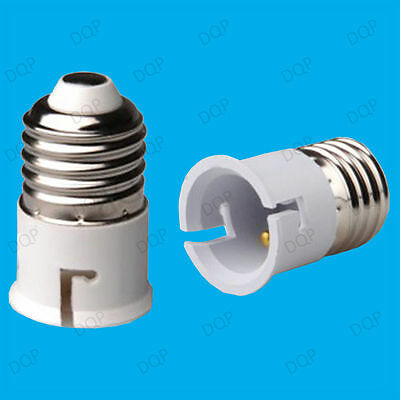 100x Light Bulb Socket Converter Adaptor E27 to B22 Screw ES Lamp Bulk Wholesale