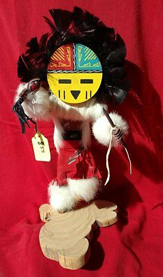 13 iN KACHINA DOLL NAVAJO SUNFACE SIGNED NUMBERED AUTHENTIC NATIVE AMERICAN K36