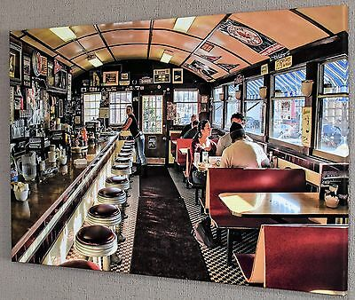 American Diner Canvas Picture Print Wall Art Large #335